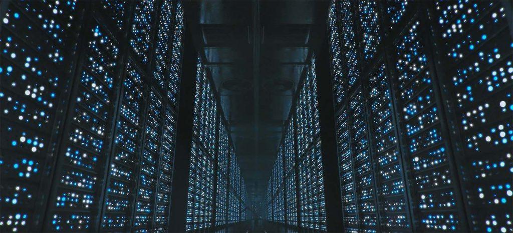 Pasillos internos del edificio principal de almacenamiento de conciencias